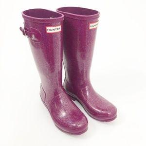 Hunter Kids Purple Original Glitter Rain Boots 6g